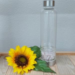 garrafa agua energizada quartzo rosa